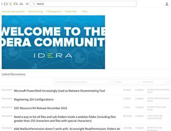 community.idera.com screenshot