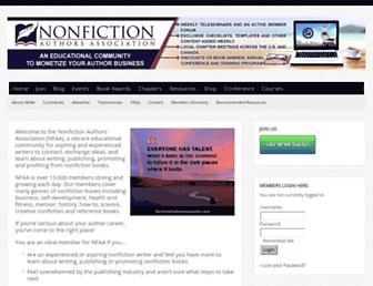 nonfictionauthorsassociation.com screenshot