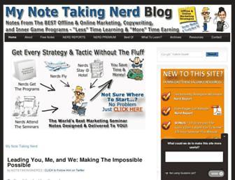 Thumbshot of Mynotetakingnerd.com