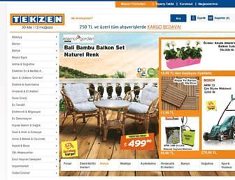 tekzen.com.tr screenshot