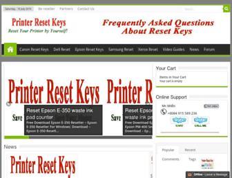 printerkeys.com screenshot