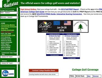 golfstat.com screenshot
