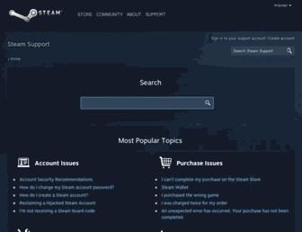 support.steampowered.com screenshot