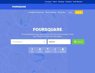foursquare.com screenshot