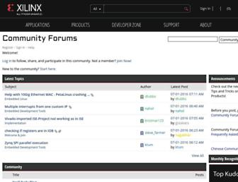 forums.xilinx.com screenshot