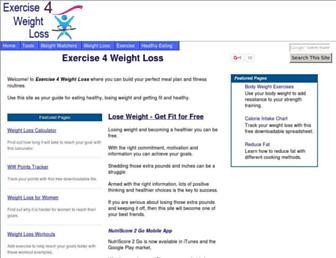 Thumbshot of Exercise4weightloss.com