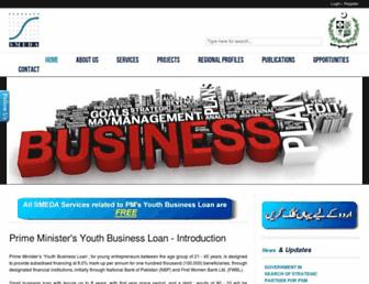 Main page screenshot of smeda.org