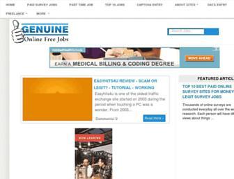 genuineonlinefreejobs.com screenshot