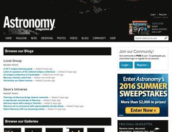 cs.astronomy.com screenshot