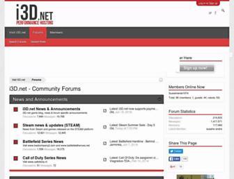 Main page screenshot of forum.i3d.net