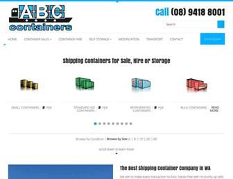 abccontainers.com.au screenshot