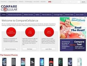 comparecellular.ca screenshot