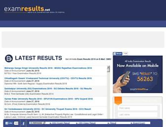 examresults.net screenshot