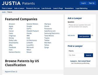patents.justia.com screenshot