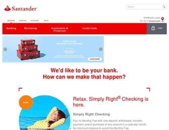 Thumbshot of Santanderbank.com