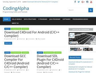 codingalpha.com screenshot
