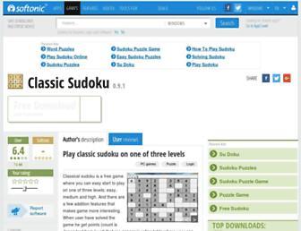 classic-sudoku.en.softonic.com screenshot