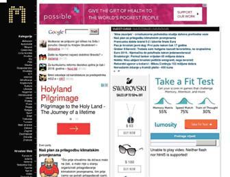 Main page screenshot of monitor.hr