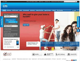 online.citibank.co.in screenshot