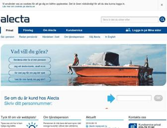 alecta.se screenshot