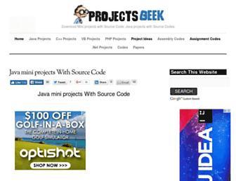 projectsgeek.com screenshot