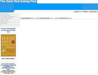 Main page screenshot of dashdiet.org