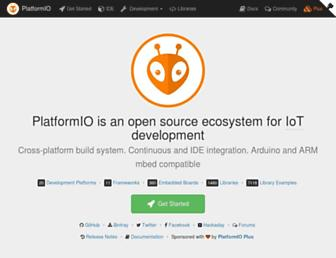 platformio.org screenshot