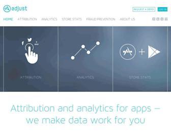 adjust.com screenshot