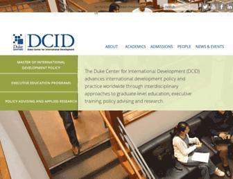 dcid.sanford.duke.edu screenshot