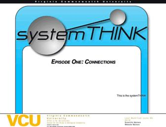 Main page screenshot of systemthink.vcu.edu