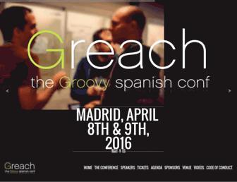 Main page screenshot of greach.es