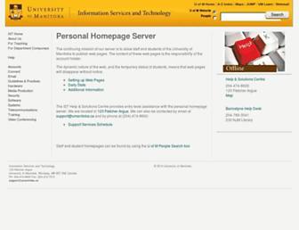home.cc.umanitoba.ca screenshot