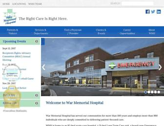 warmemorialhospital.org screenshot