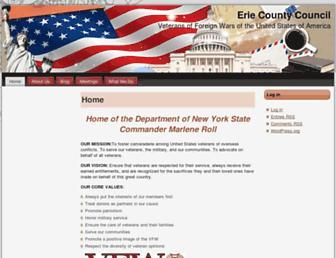 Main page screenshot of eccvfw.org