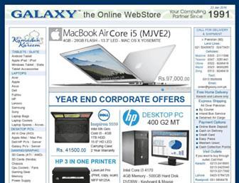 Main page screenshot of galaxy.com.pk