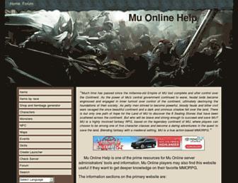 muonlinehelp.com screenshot