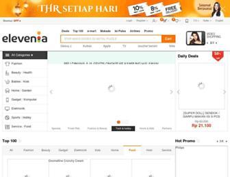 elevenia.co.id screenshot