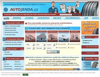Main page screenshot of pneu-jenda.cz