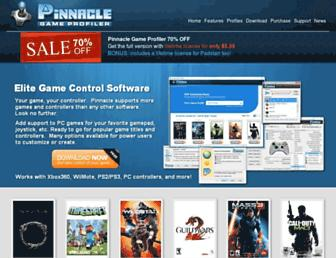 pinnaclegameprofiler.com screenshot