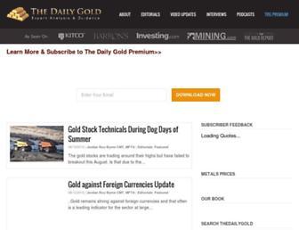 thedailygold.com screenshot