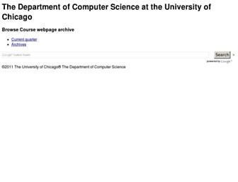 classes.cs.uchicago.edu screenshot