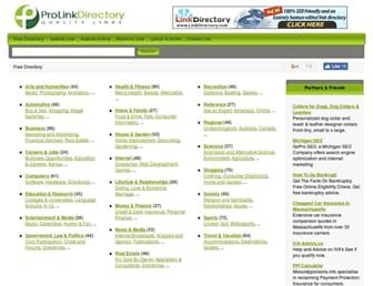Thumbshot of Prolinkdirectory.com