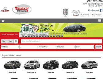toyotaofbowie.com screenshot