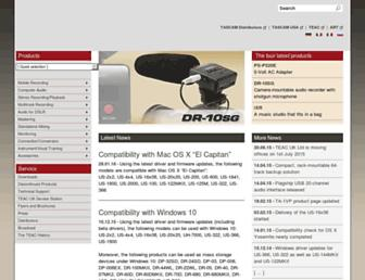 tascam.eu screenshot