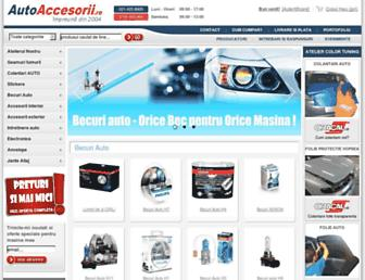 Main page screenshot of autoaccesorii.ro