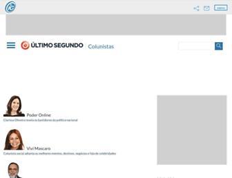Main page screenshot of colunistas.ig.com.br