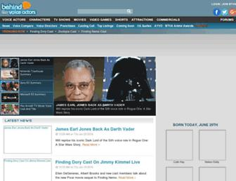 behindthevoiceactors.com screenshot