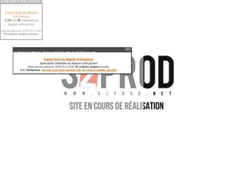 Main page screenshot of s2prod.net