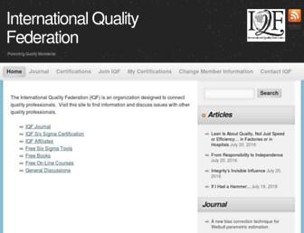 Main page screenshot of iqf.org
