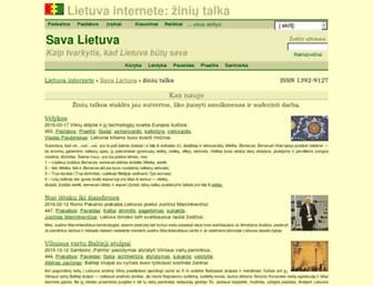 Main page screenshot of on.lt
